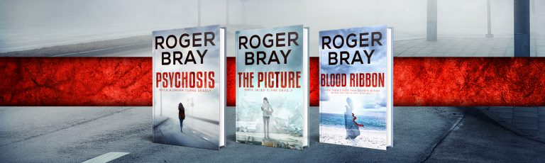 British / Australian author Roger Bray, writer of highly regarded crime thrillers The Picture, Psychosis and Blood Ribbon